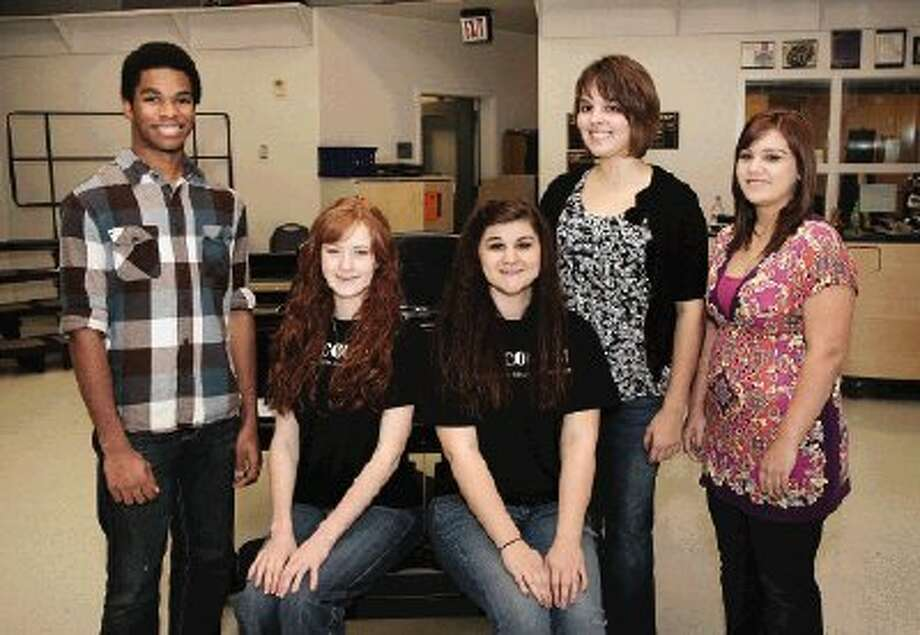 Montgomery students selected for the Texas Music Education Association All-State competition include, from left, Adam Sadberry, Hannah Ellis, Kelsie Hanning, Riley Litts and Elizabeth Milian.