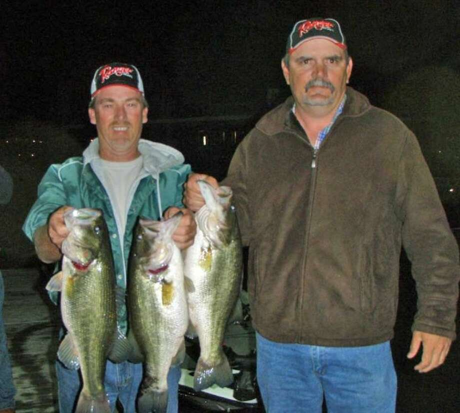 Mike Power and Chris Russell won the Conroe Bass Tuesday Night Tournament on Feb. 5 with a total stringer weight of 17.69 pounds.