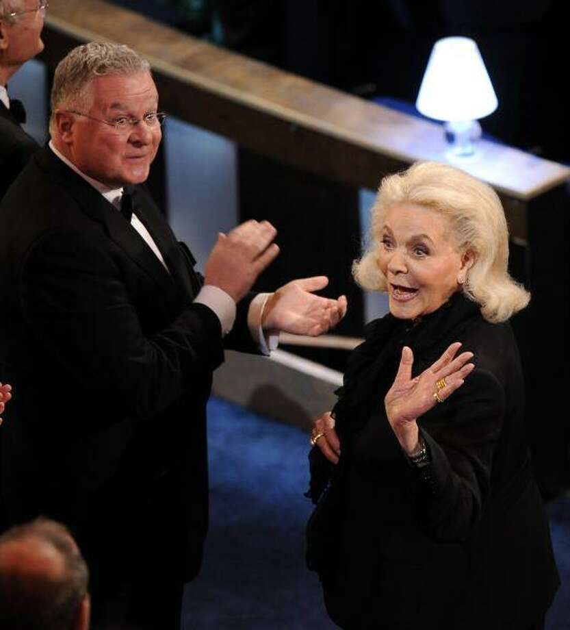 Lauren Bacall is presented the Governor's Award during the 82nd Academy Awards Sunday. / AP2010