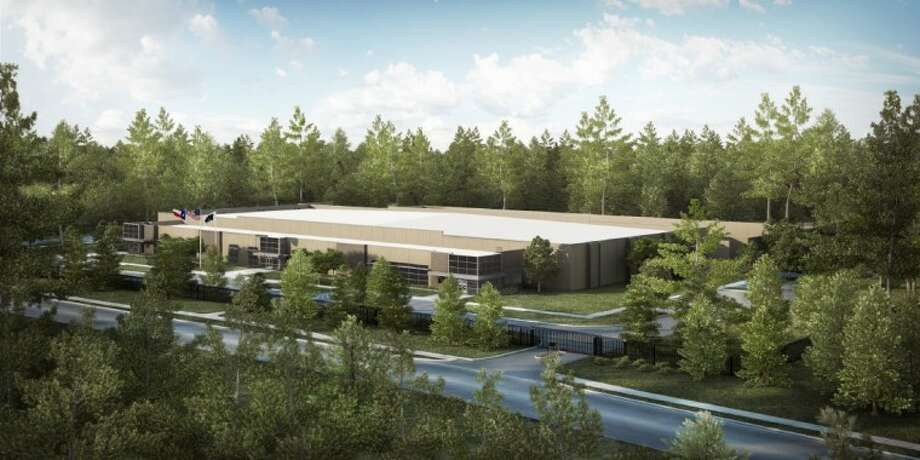 A rendering shows what the new Stream Data Center in The Woodlands will look like.