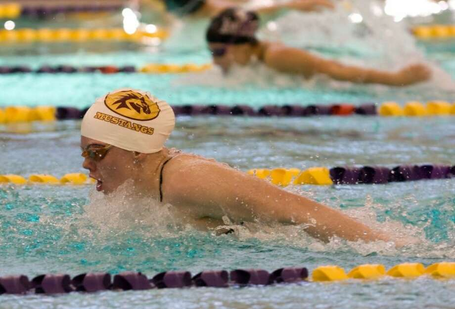 Jessica Sloan of Magnolia West set a pool record in winning the 200-yard individual medley at the District 19-4A meet Jan. 28 at the Michael D. Holland Aquatic Center in Magnolia. Sloan clocked in at 2 minutes, 10.94 seconds.