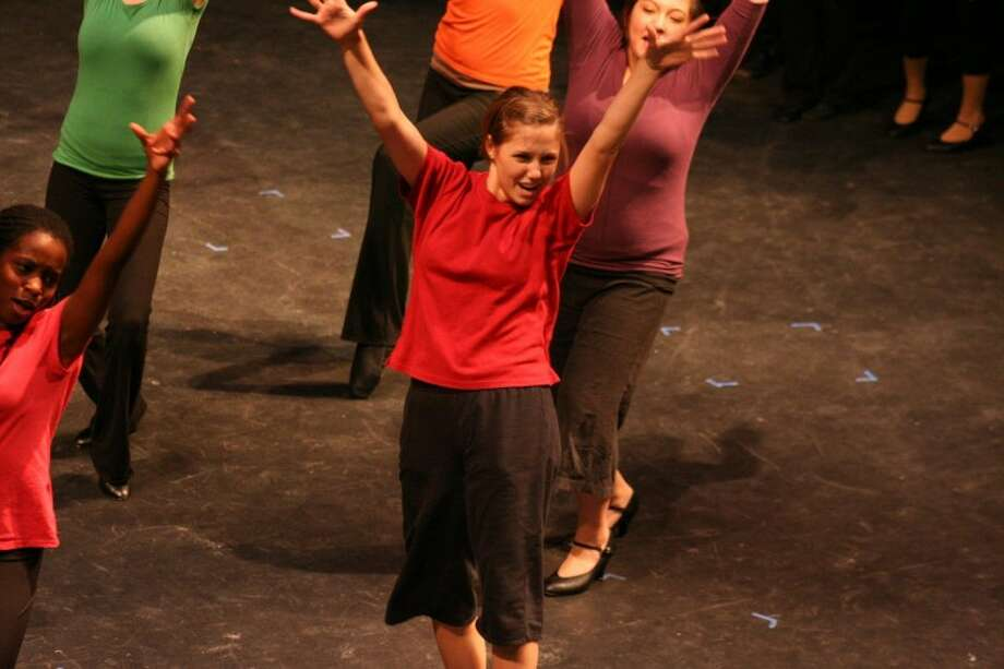 The Woodlands College Park High School senior Anna Mayo, 18, rehearses during the two-week Interlochen Arts Camp Musical Theatre Camp she recently attended.