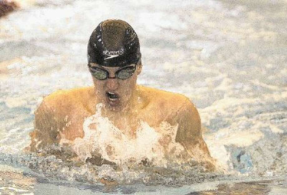 The Woodlands' competes in the Boys 100-yard breaststroke during Saturday's 5A Regional Swimming & Diving championships at the CISD Natatorium in Shenandoah. To view or order this photo or others like it, visit: HCNPics.com Photo: Staff Photo By Eric Swist / @WireImgId=2614783