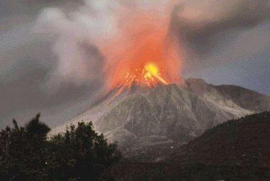 Montserrat volcano shoots ash 9 miles into sky - The Courier