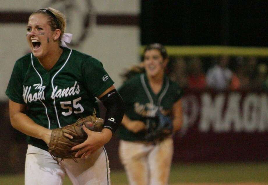 The Woodlands' pitcher Paige McDuffee, the Gatorade National Softball Player of the Year, will miss the start of the season after undergoing surgery on her throwing arm in November. Photo: Eric S. Swist