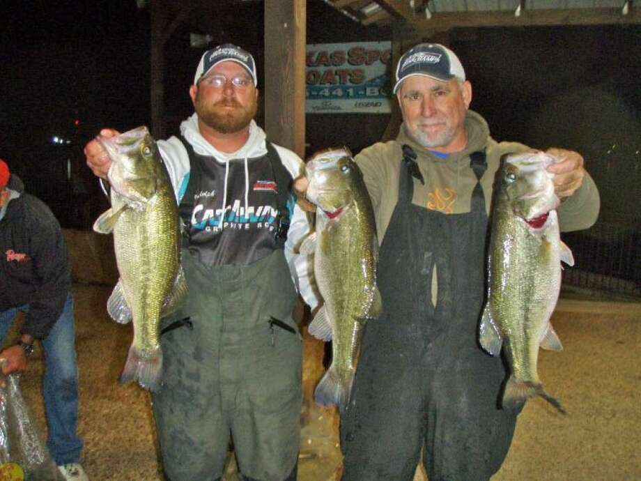 Jeff Randolph and Ken Robinson won the Conroe Bass Tuesday Night Tournament on Feb. 12 with a stringer weight of 15.88 pounds.