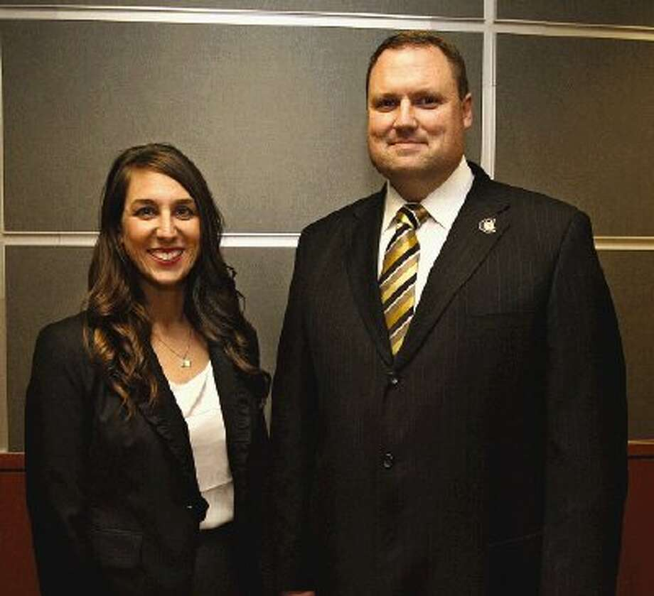 Principals named for two new CISD campuses are Lindsay Ardoin at Ann K. Snyder Elementary School, left, and Jeff Stichler for the Conroe High School Ninth Grade Campus — both set to open in August for the 2013-14 school year.