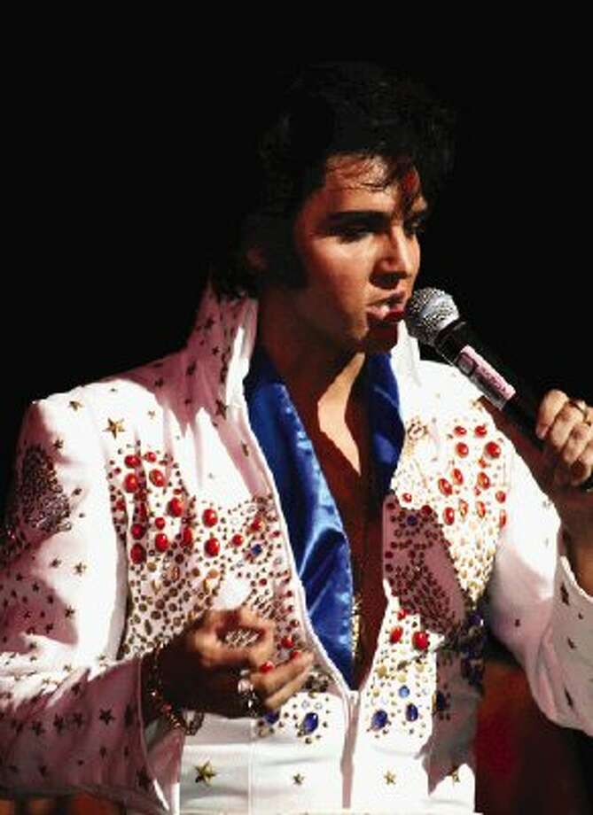 Elvis tribute artist Donny Edwards will perform at the Montgomery County Fairgrounds in Conroe this weekend.