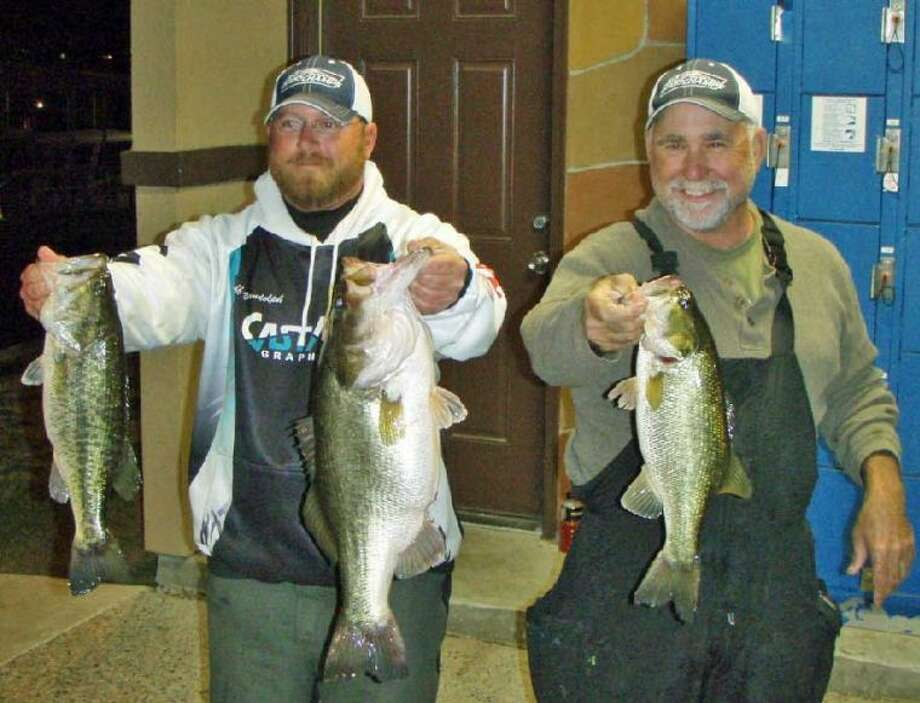 Jeff Randolph and Ken Robinson won the Conroe Bass Tuesday Night Tournament on Feb. 19 with a stringer weight of 15.8 pounds.