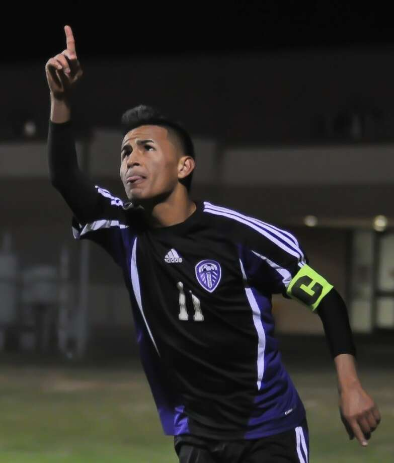 Willis' Juan Miguel Perez celebrates a goal during the Wildkats' opening game against Bryan Rudder at the Kat Cup in Willis on Thursday. Photo: Keith MacPherson