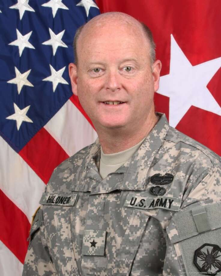 This undated photo provided by the U.S. Army shows Brig. Gen. Terence Hildner. The U.S. Army says Hildner, 49, died Friday, Feb. 3, in Kabul, Afghanistan, of apparent natural causes. Hildner has commanded the 13th Expeditionary Sustainment Command at Fort Hood since August 2010. Photo: Anonymous