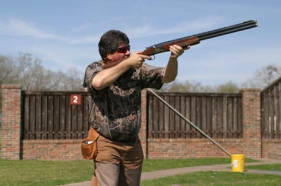 Conroe Noon Lions Club's member Ricky Morton is practicing for the 10th Annual Clay Shoot, set for this Saturday, March 2nd; it will be a day filled with sporting clays, long shot contest, raffles, Live auction and BBQ lunch. To register contact the club office at 936-760-1666.