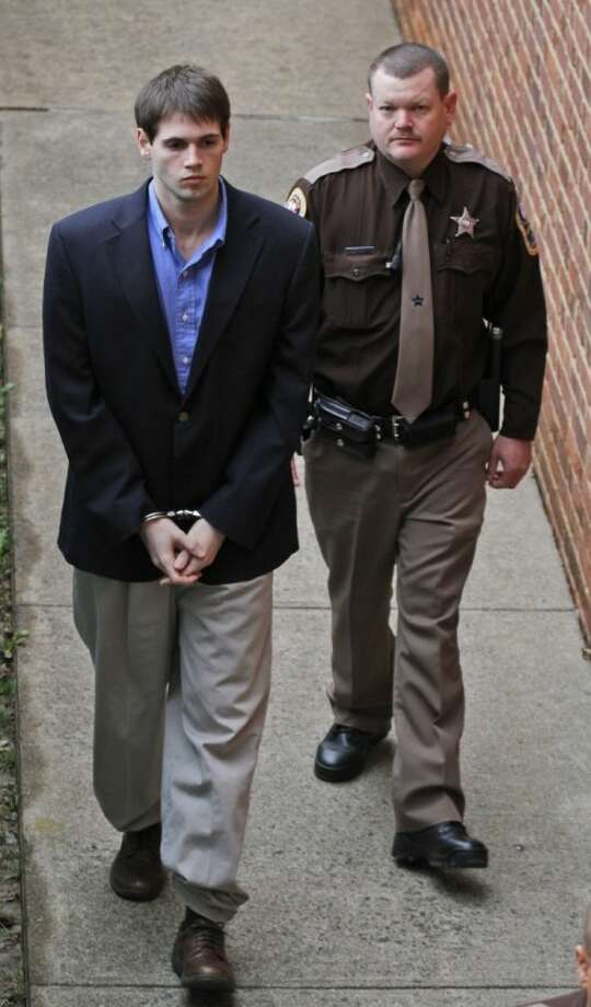 George Huguely V is escorted into the Charlottesville Circuit courthouse in Charlottesville, Va., Wednesday. Photo: Steve Helber