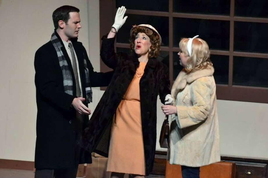 "From left, Richard C. Wilcox, Carolyn Wong and Crys McClure in Stage Right's current production of ""Barefoot in the Park"" at the Crighton Theatre through March 4."