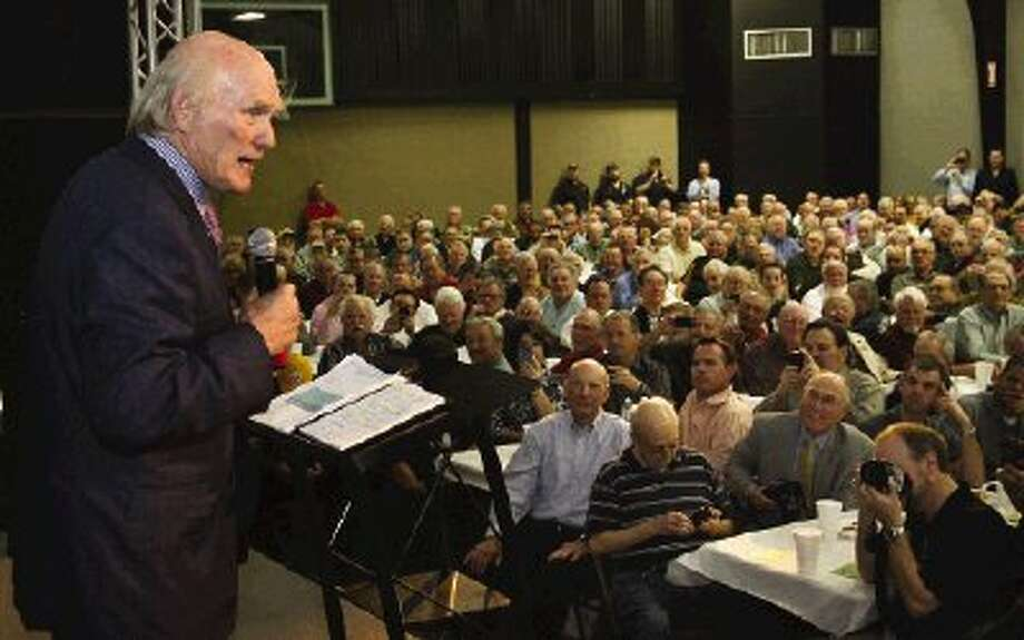 More than 750 people attended the Men's Power Lunch featuring NFL legend Terry Bradshaw at First Baptist Church of Conroe.
