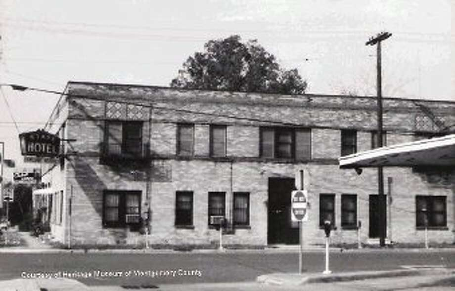 "The State Hotel was constructed in 1932 when Conroe was a ""boom town"" because of a major oil find."