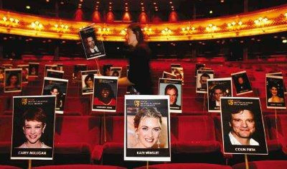 The seating arrangement is planned for the British Academy of Film and Television Arts (BAFTA) Awards to be held at The Royal Opera House in London, Thursday. The annual awards will take place Sunday, Feb 21. / AP2010