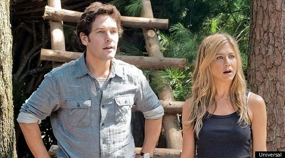 "Paul Rudd and Jennifer Aniston in the new Judd Apatow film ""Wanderlust."""