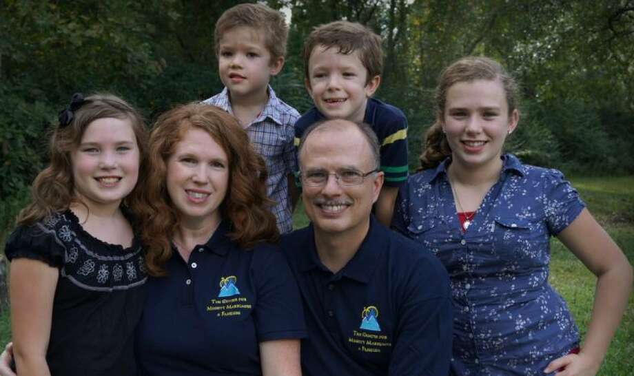 Pictured are John Vanderkaay, founder of the Center for Mighty Marriages and Familes, with his wife Terri, and four children, Danielle, Lydia, Timothy and Stephen.
