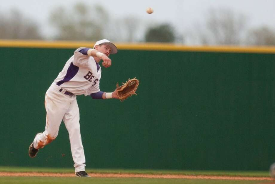 Montgomery's Will Fox was named to the Texas High School Baseball Coaches Association's Class 4A third-team all-state baseball team. Photo: Staff Photo By Eric S. Swist