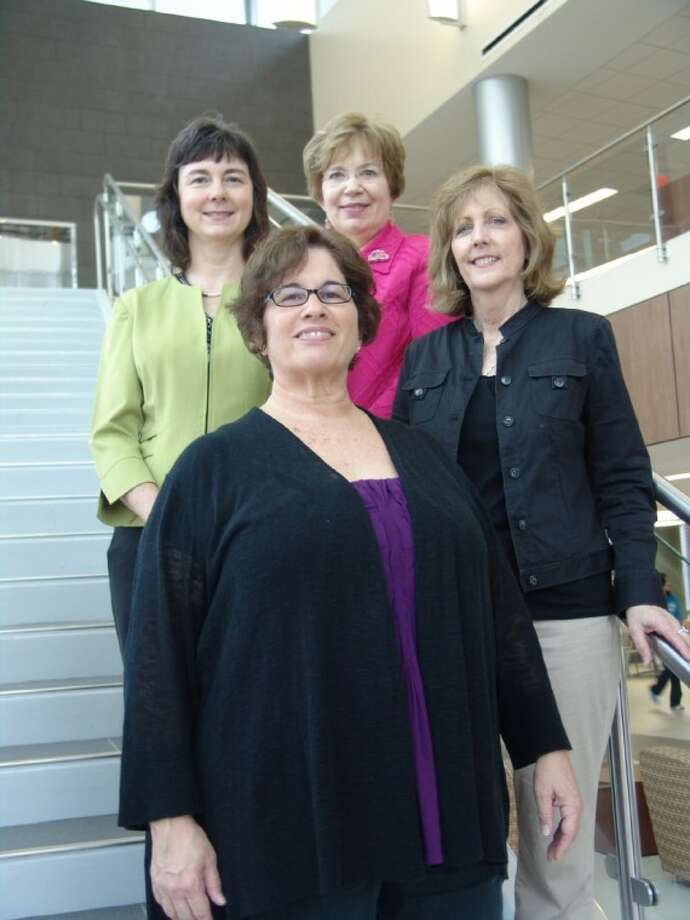 Pictured are (back row, left to right) Tracye Howell, Barbara Holman, (front row, left to right) Shari Tracey and Valerie Shepherd. They are Lone Star College-Montgomery's 2012 Staff Excellence Award winners.