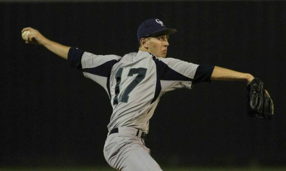 College Park pitcher Jacob Krzemien throws during a high school baseball game against College Park on Friday in Conroe. College Park defeated Conroe 12-0 in five innings. Go to HCNPics.com to view and purchase this photo, and others like it. Photo: Staff Photo By Jason Fochtman