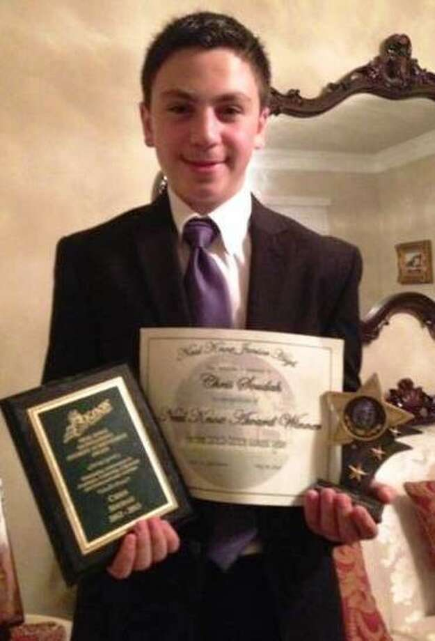 Chris Soudah received the Neal Knox Outstanding Student Achievement Award for the 2012-13 school year at Knox Junior High.