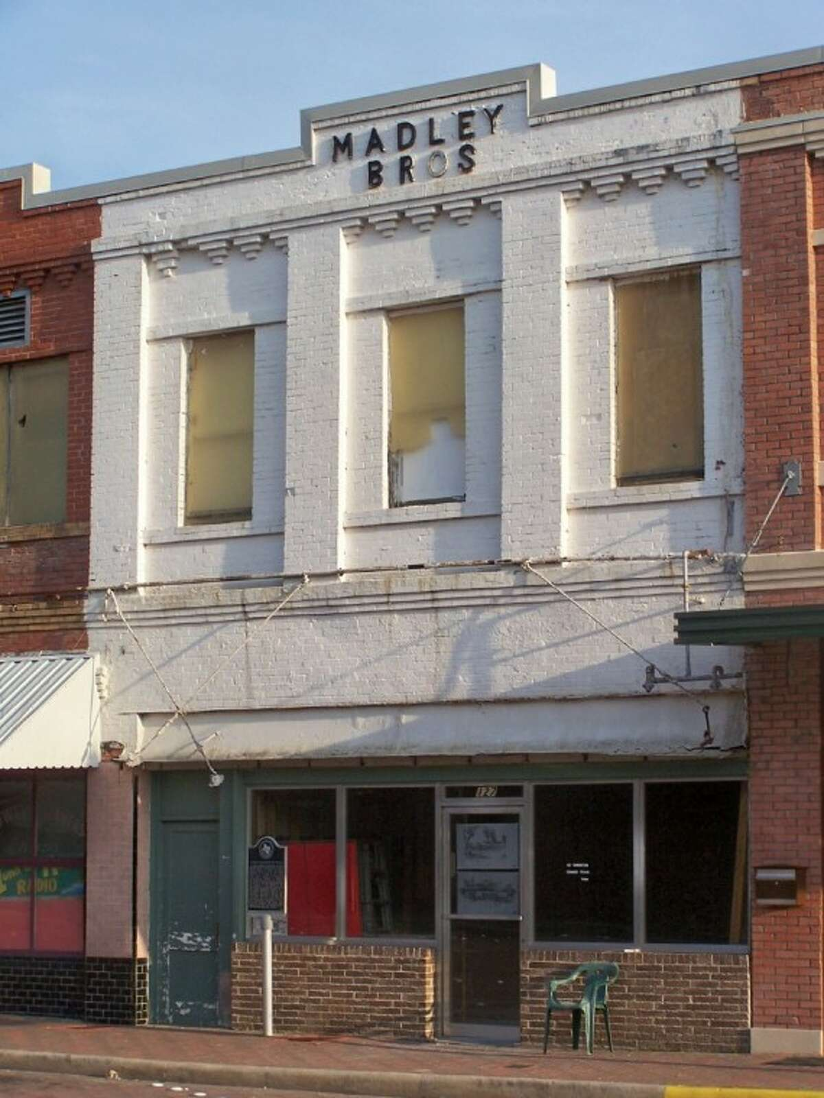 A photo of the Madeley Building prior to its renovation in 2010. The building housed many different businesses in its 100 years - including a meat market, dress shop, telephone exchange and others. Today it's the home of the Conroe Art League's Gallery at the Madeley Building. This photo was taken in 2006.