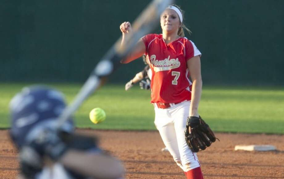 Caney Creek's Laci Belovsky was named first-team All-District 18-4A pitcher for a second consecutive year. Photo: Karl Anderson