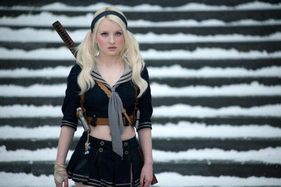"In this film publicity image released by Warner Bros. Pictures, Emily Browning portrays Babydoll in a scene from ""Sucker Punch."""