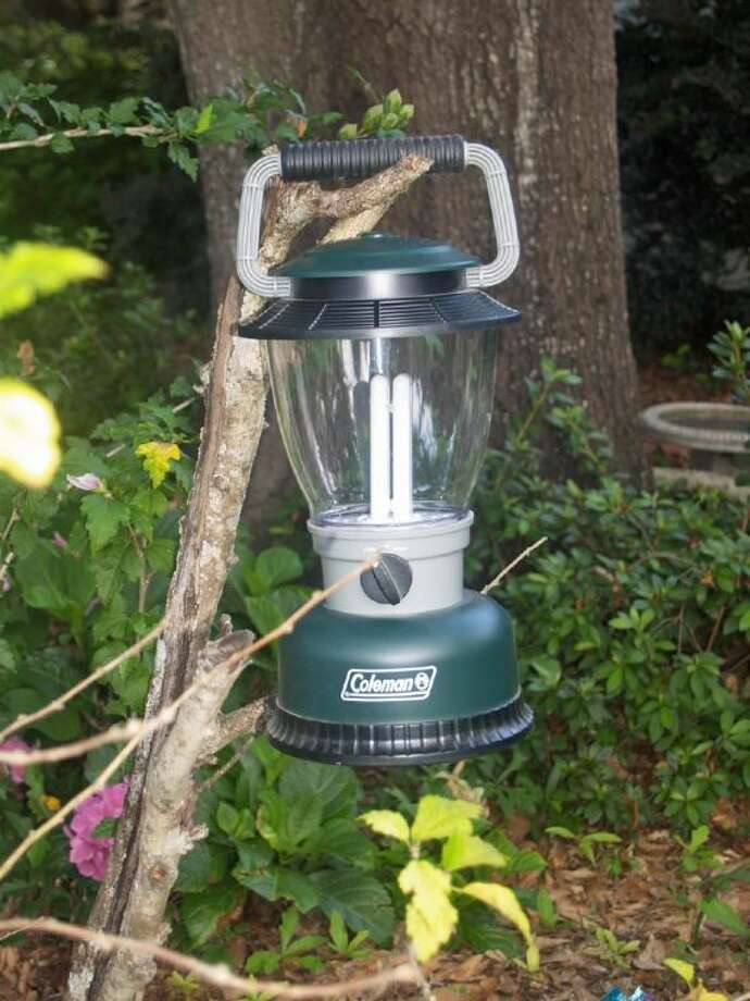 This battery-powered lantern works great and is probably safer than a propane model.