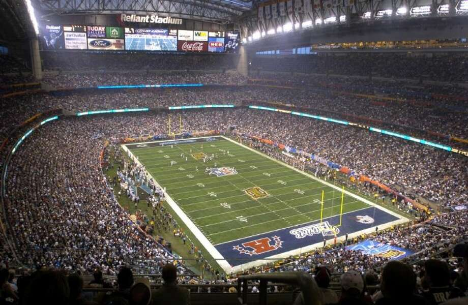 Houston's Reliant Stadium hosted a sellout crowd at Super Bowl XXXVIII between the Carolina Panthers and the New England Patriots on Feb. 1, 2004. Photo: BRETT COOMER