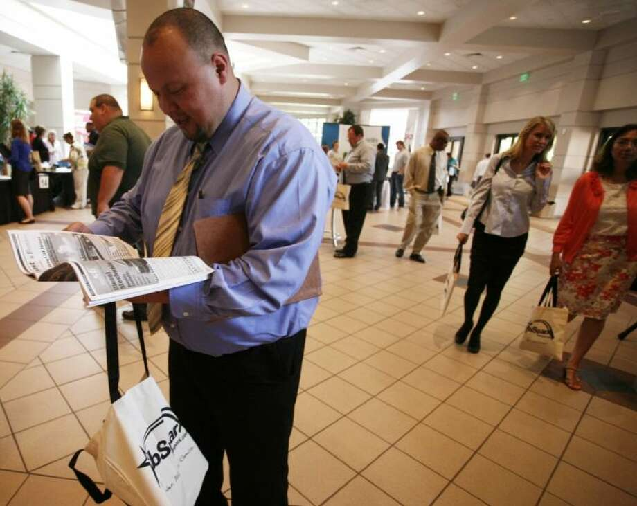 David Gonzalez, was among the over 1,500 who attended Thursday's 4th annual Woodlands Church Career Fair in The Woodlands. Gonzalez, was searching for a job as a machinist. To view or order this photo and others like it, visit: HCNPics.com