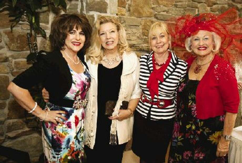 From left BJ Ordner, Garlaine Kelly, Montgomery County Performing Arts Society President Mary Smith and Pat Spackey at the MCPA Mimosas in May fundraiser luncheon earlier this month.