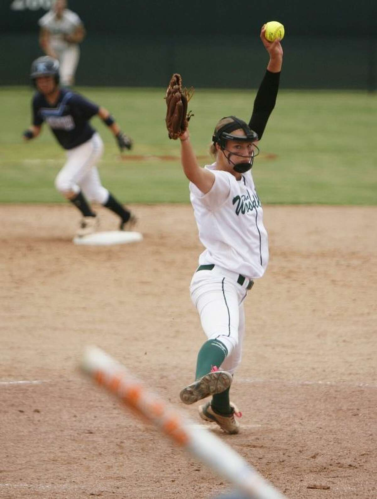 The Woodlands sophomore Abby Langkamp hit .368 with three home runs, eight doubles and 33 RBI this season. She also finished 20-5 with 91 strikeouts and a 1.29 ERA in 146 2/3 innings in the circle.