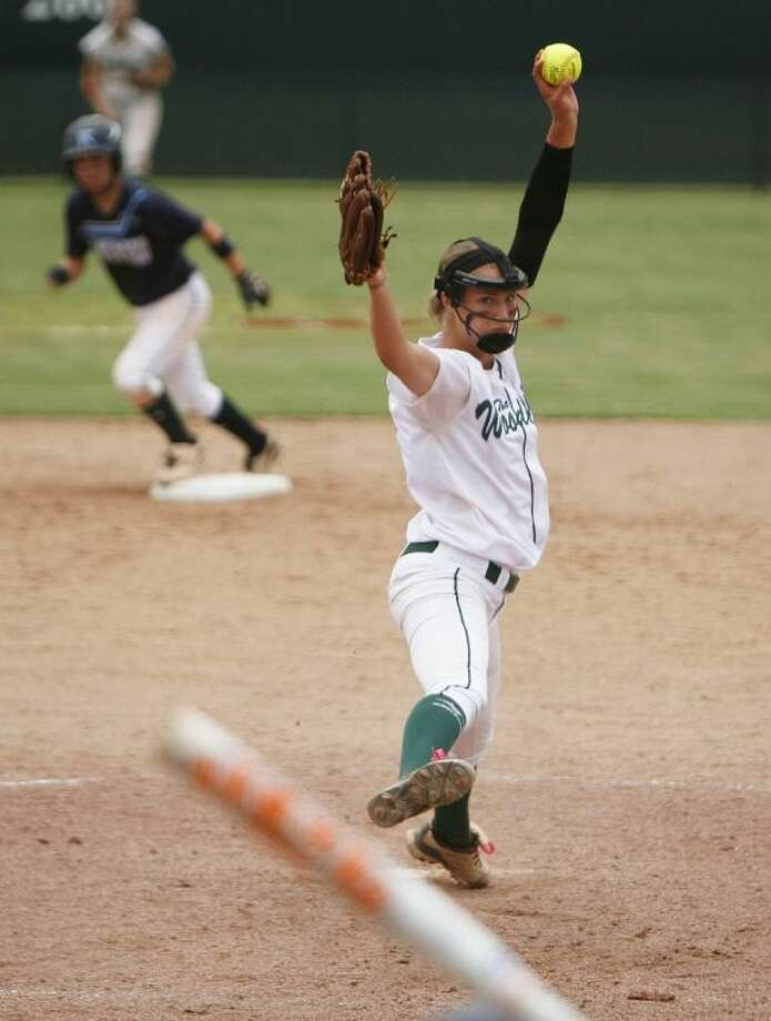 The Woodlands sophomore Abby Langkamp hit .368 with three home runs, eight doubles and 33 RBI this season. She also finished 20-5 with 91 strikeouts and a 1.29 ERA in 146 2/3 innings in the circle. Photo: Staff Photo By Eric Swist