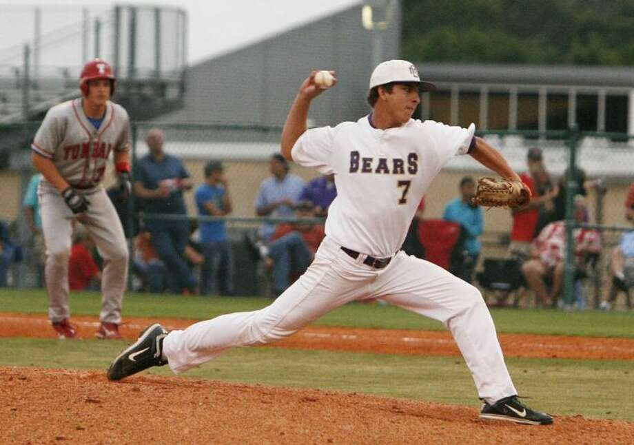 Montgomery's Mason Mize helped the Bears post a 30-win season and reach the Region III-4A semifinals. Photo: Staff Photo By Eric Swist