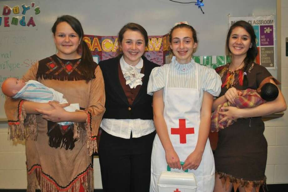 Moorhead Junior High students dressed up as historical figures to create a History Museum.