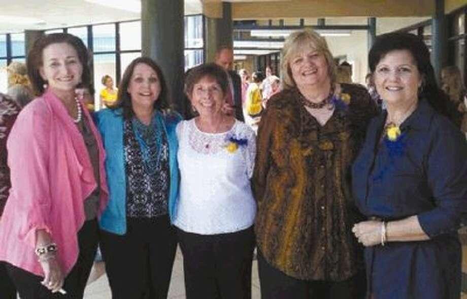Pictured, left to right, Charlotte Pace, Kathleen Jones, Jeanne Stapp, Vicki Niezgoda, Barbara Muggley