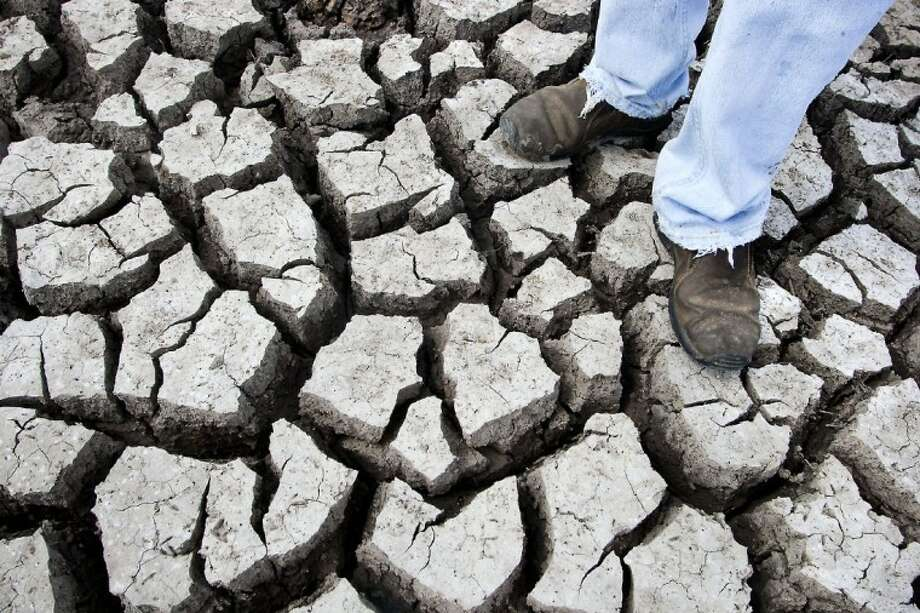 Dry as dry can be. The region's top story for 2011 -- the drought.