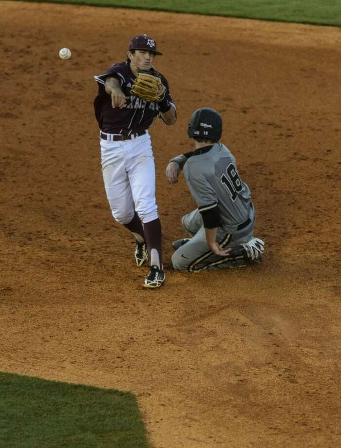 Shortstop Blake Allemand, left, and Texas A&M are headed to the Corvallis (Ore.) NCAA regional. Photo: VASHA HUNT