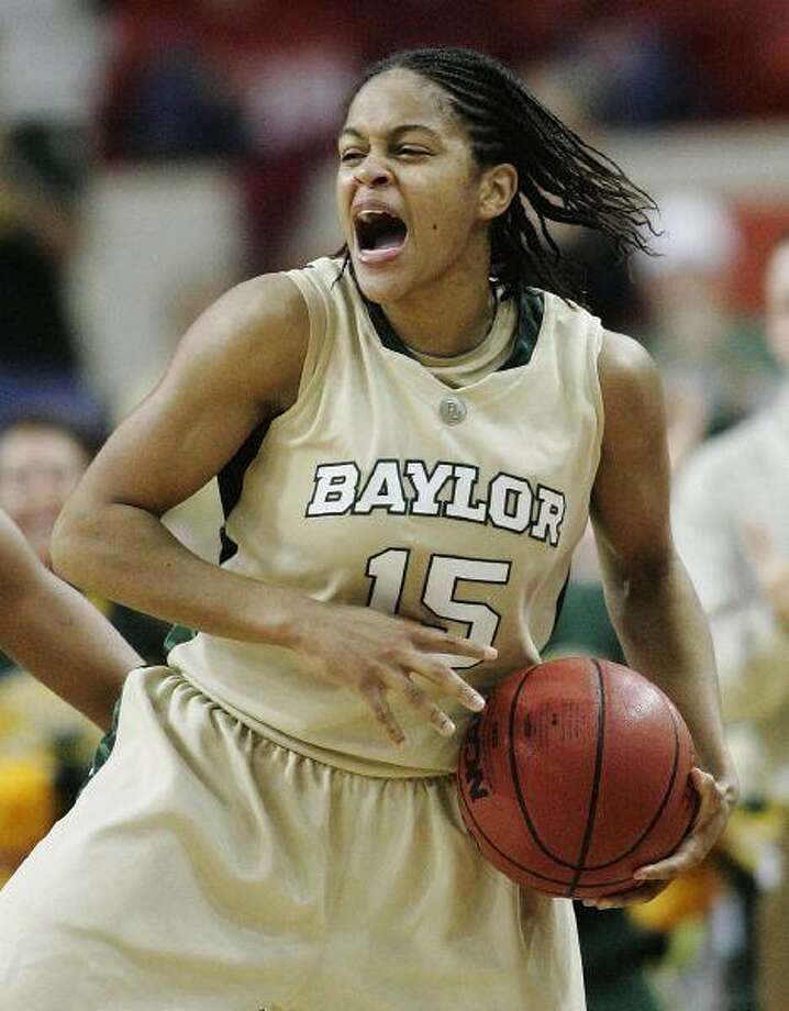 Baylor guard Jhasmin Player reacts as her team won the NCAA Big 12 Conference women's tournament in Oklahoma City Sunday. The Bears earned a No. 2 seed in the NCAA Tournament. / AP