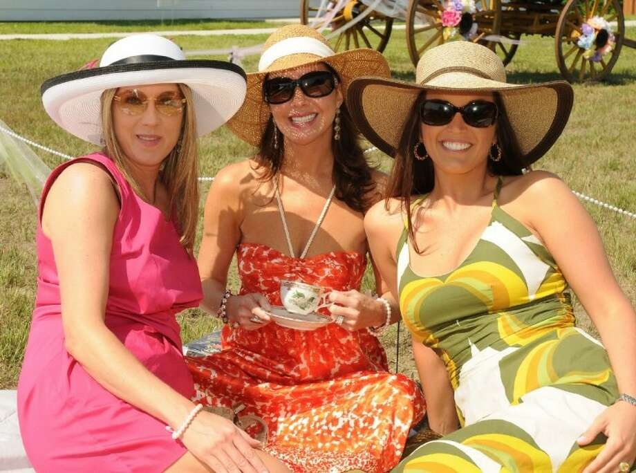 Pictured at last year's Tea On The Lawn are, from left to right, Sandra Novack, Claudia Seigler and Codi Fountain.