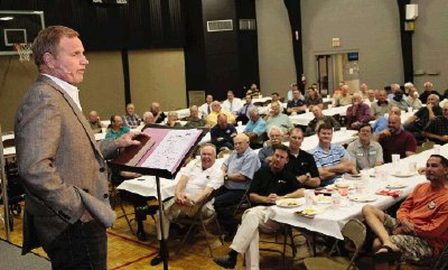 Sexual addiction and pornography expert Steve Arterburn was the featured speaker at the Men's Power Lunch at First Baptist Church of Conroe on Monday.