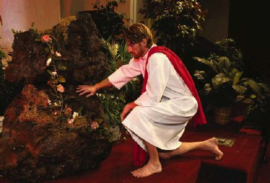 Robert Gibbons of Montgomery will portray Jesus in the Montgomery United Methodist Church depiction of the Garden of Gethsemane scene at a pageant on Maundy Thursday.