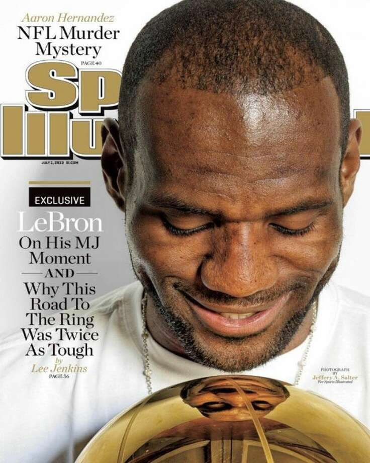 The July 1 edition of Sports Illustrated features Lebron James on the cover. Photo: HOEP