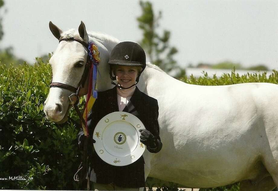 """Claire McKean, a student at St. Anthony of Padua Catholic School, was named """"Best Child Rider Pin Oak 2011"""" recently at the Pin Oak Charity Horse Show."""