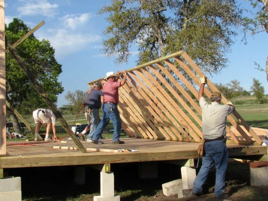 Last weekend, 42 Lions made the trek to Kerrville to attend the annual Work Weekend at the Texas Lions Camp where members kept busy building, sanding, painting and having fun. Photo: Courtesy Photo