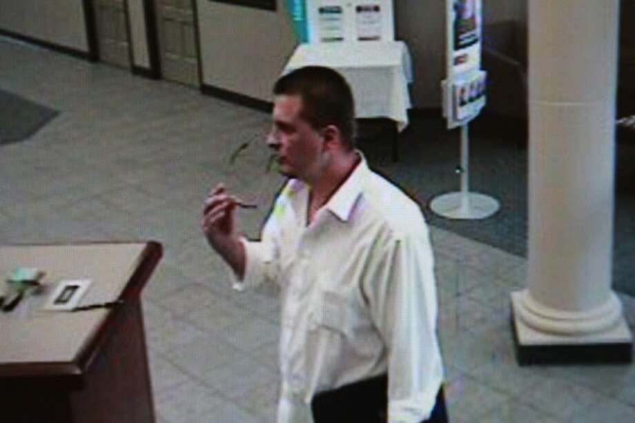 Police are looking for this man who robbed a Shenandoah bank Monday afternoon.
