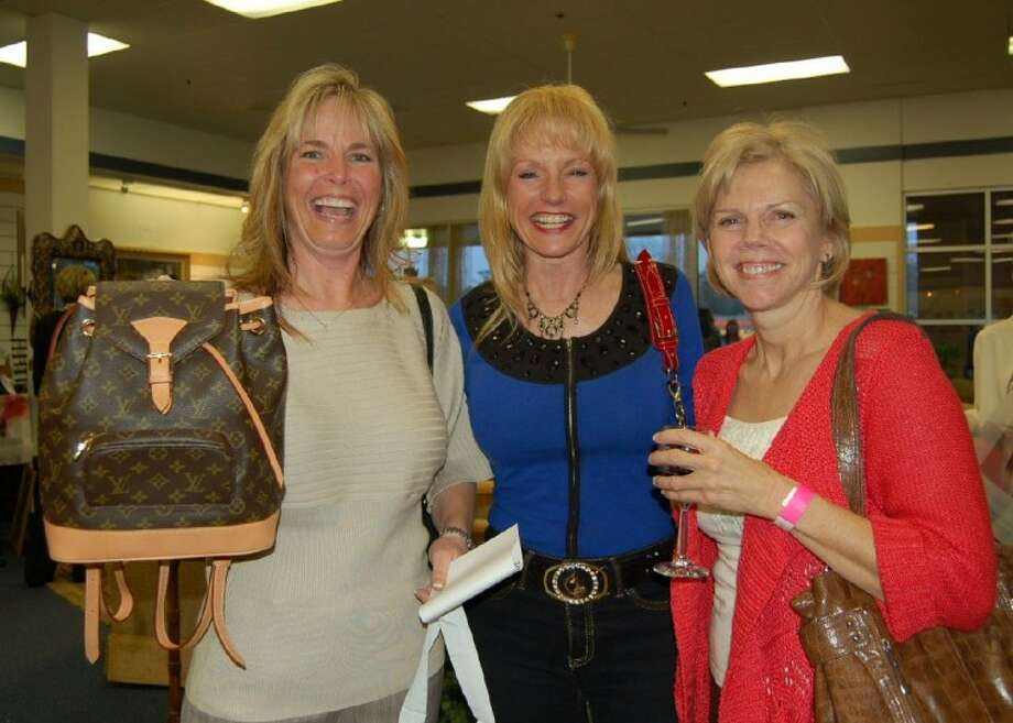 From left Maris Blair, Nelda Blair and Pam Kelley at the Jazzy Junque fundraiser in early March benefiting the New Danville community.